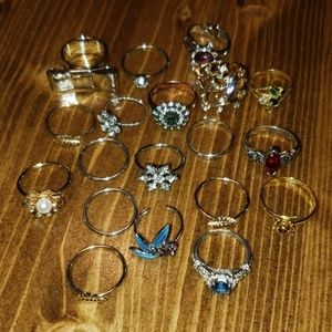 Jewelry - Lot of 20 misc Fashion Jewelry Rings